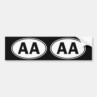 AA Oval ID Bumper Sticker
