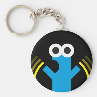 Aaa-aaA!!! Basic Round Button Key Ring