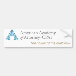 AAA-CPA Bumper Sticker