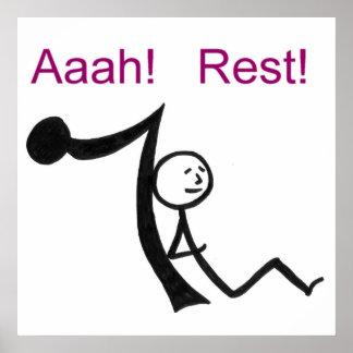 Aaah! Rest! Posters