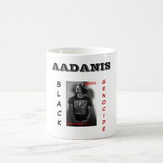 AADANIS: BLACK GENOCIDE COFFE MUG