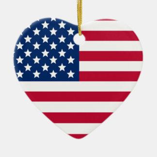 Aamerican Heart Christmas Ornament