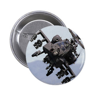 Aapache Attack Helicopter Pinback Buttons