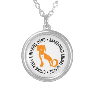 AAR Necklace, Small Silver Plated Necklace