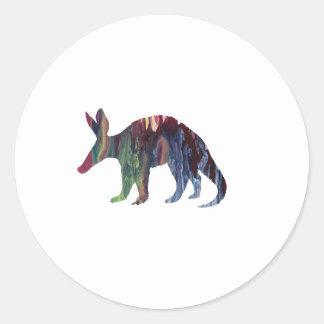 Aardvark Art Classic Round Sticker