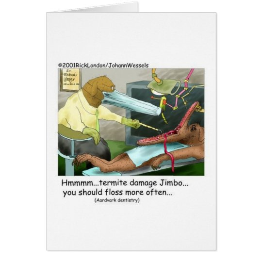 Aardvark Dentistry Funny Gifts & Collectibles Card