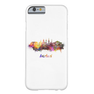 Aarhus skyline in watercolor barely there iPhone 6 case