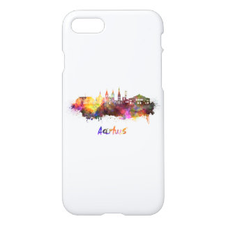 Aarhus skyline in watercolor iPhone 8/7 case