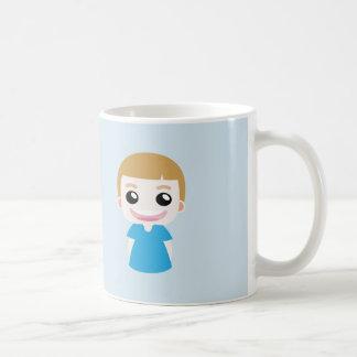 """Aaron a funny kid saying """"I'm happy"""" Coffee Mug"""