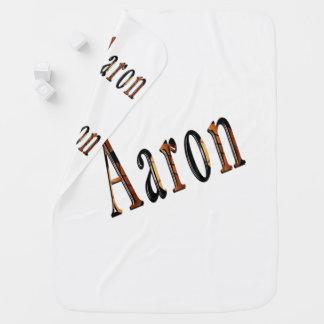 Aaron Boys Name Logo, Baby Blanket