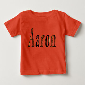 Aaron Boys Name Logo, Baby T-Shirt