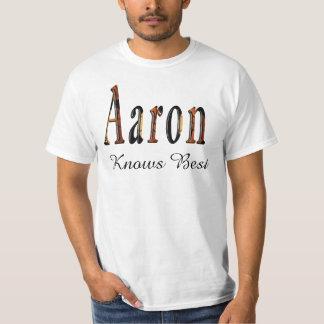 Aaron Boys Name Logo, T-Shirt