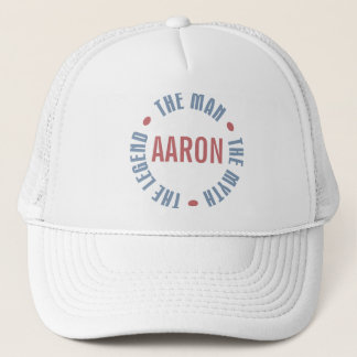 Aaron Man Myth Legend Customizable Trucker Hat