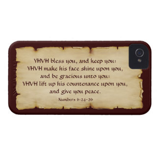 Aaronic Blessing BlackBerry Bold 9700/9780 iPhone 4 Cases