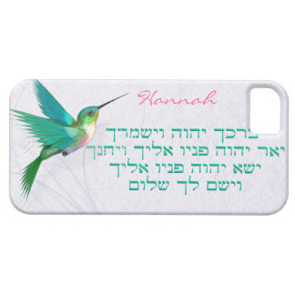 Aaronic Blessing Hummingbird Hebrew iPhone 5 Cases