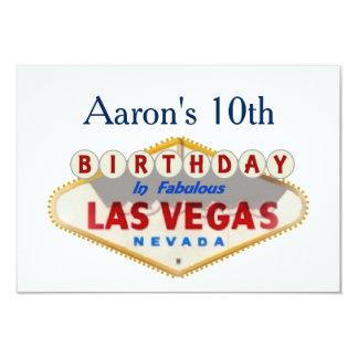 Aaron's 10th Las Vegas Birthday Card