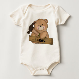 Aaron's Builder Bear Personalized Gifts Baby Bodysuit