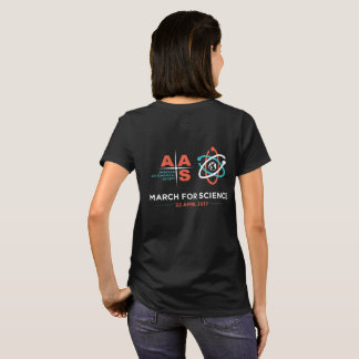 AAS + March for Science; Reverse, Black T-Shirt