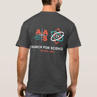 AAS + March for Science; Reverse, Charcoal Gray T-Shirt