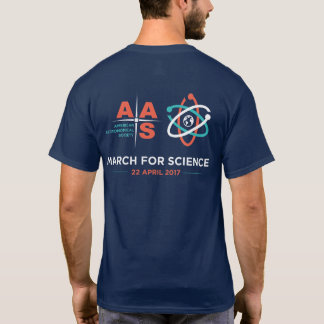 AAS + March for Science; Reverse; Navy Blue T-Shirt