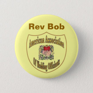 AAWO Wedding Officiant 6 Cm Round Badge