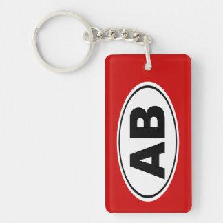 AB Arapahoe Basin Colorado Double-Sided Rectangular Acrylic Key Ring