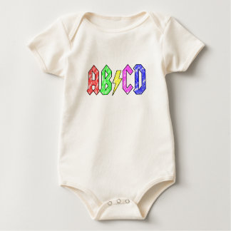 AB / CD BABY BODYSUIT