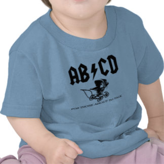 AB CD- For those about to talk AC DC Baby T Shirts