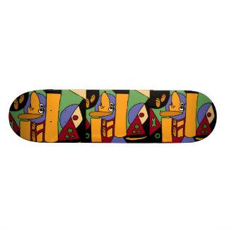 AB- Funny Dachshund Art Skateboard