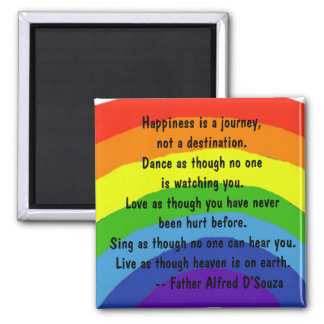 AB- Happiness is a journey Magnet