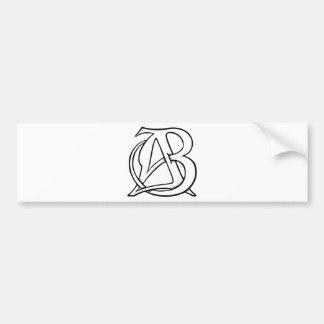 AB Monogram Bumper Sticker
