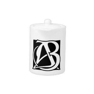 AB Monogram with Black Background