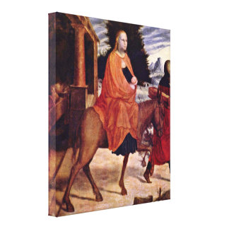 AB Monogrammist - The Flight into Egypt Gallery Wrapped Canvas