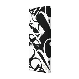 """""""ABA Black and White"""" by ArtBuyAngie Gallery Wrapped Canvas"""