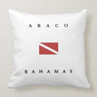 Abaco Bahamas Scuba Dive Flag Throw Pillow
