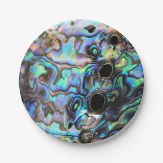 Abalone paua seashell design paper plate