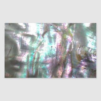 Abalone Shell Rectangular Sticker