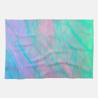 Abalone Shell Watercolor Mother of Pearl Stone Tea Towel