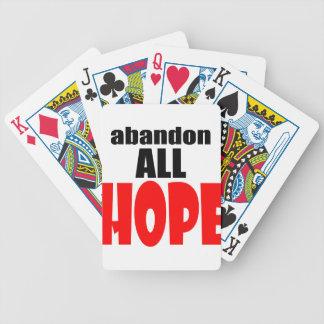 ABANDON all hope abandonallhope marine torpedo lau Bicycle Playing Cards