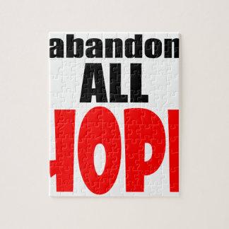 ABANDON all hope abandonallhope marine torpedo lau Jigsaw Puzzle