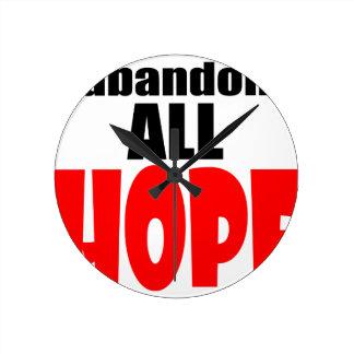 ABANDON all hope abandonallhope marine torpedo lau Round Clock