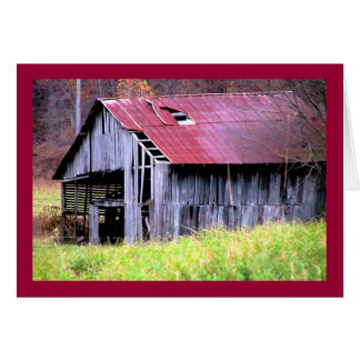 Abandon Horse Barn in Fall Card
