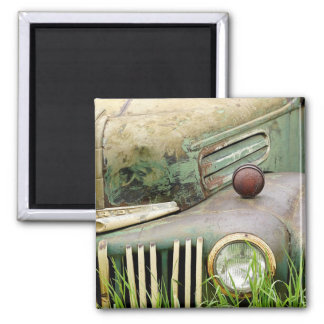 Abandoned Antique Vintage Car Magnet