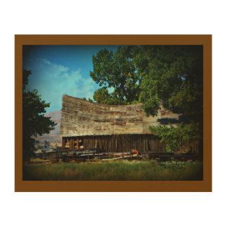 Abandoned Barn Wood Print
