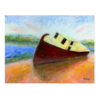 Abandoned Boat, Postcard