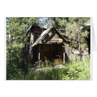 Abandoned Cabin in the Woods Card