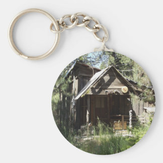 Abandoned Cabin in the Woods Key Ring