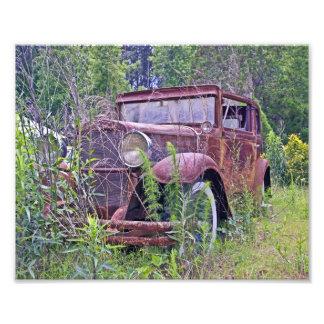 Abandoned Car Photo Print