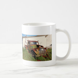 Abandoned cars and trucks coffee mug
