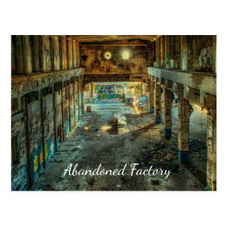 Abandoned Factory Decay Postcard